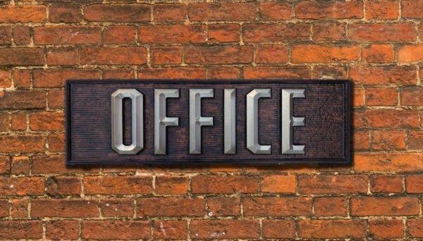 HDU office sign