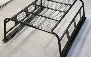 Gloss black roof rack