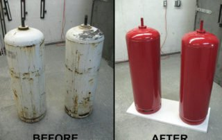 Mayfair powder coating before and after