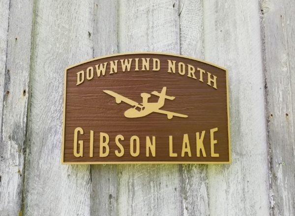 HDU lake sign